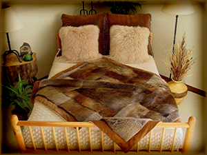 Handcrafted Fur Blankets from the Ozarks